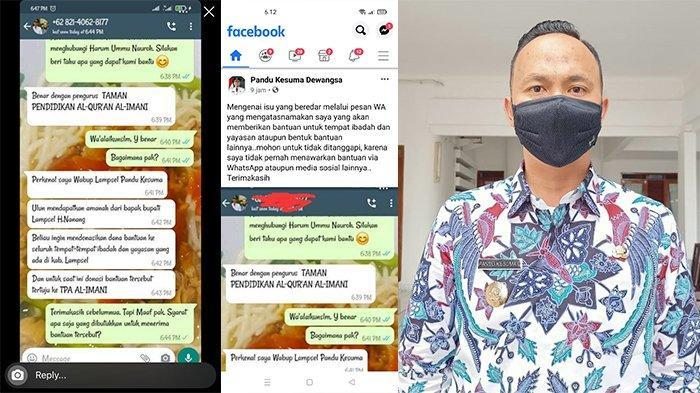 Beredar Hoaks Mengatasnamakan Wakil Bupati Lampung Selatan, Pandu Kesuma Angkat Bicara
