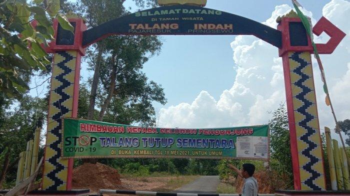 Wisata Talang Indah Pringsewu Lampung Masih Tutup di Hari Keempat Lebaran