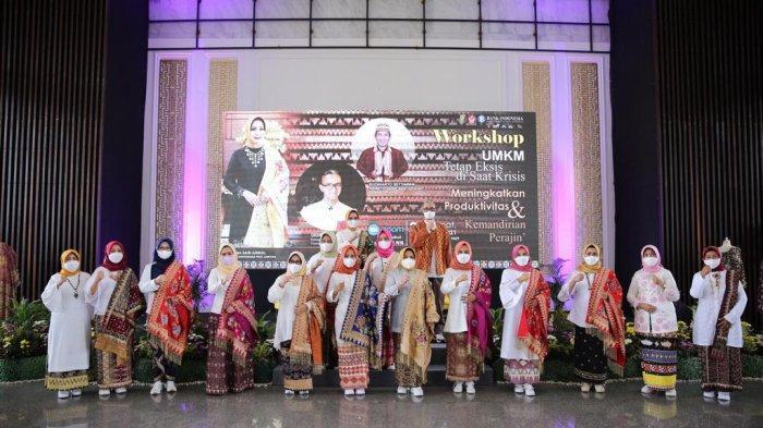 Suasana Workshop UMKM bertajuk UMKM Tetap Eksis di Saat Krisis di Mahan Agung, Rumah Dinas Gubernur Lampung, Bandar Lampung, Jumat (30/4/2021).