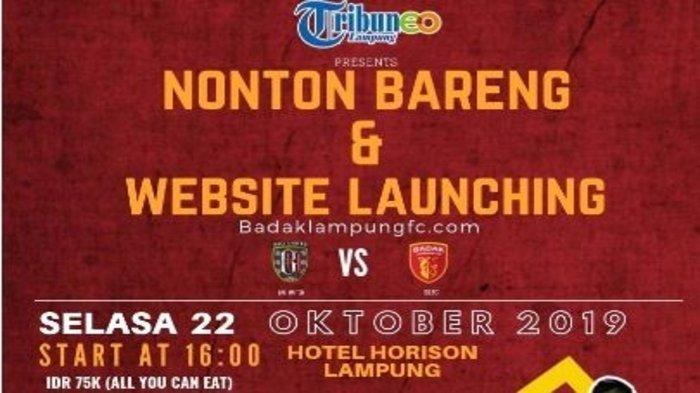Nobar Bali United vs Badak Lampung, Dapatkan Jersey Tim Bertanda Tangan Pemain Laskar Saburai