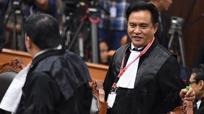 Kritik Tim Hukum Prabowo-Sandiaga, Yusril Sebut Baru Kali Ini Temukan Alat Bukti Berantakan