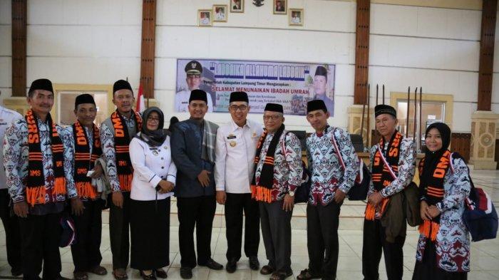 Zaiful Bokhari Resmi Melepas Peserta Umrah Kabupaten Lampung Timur