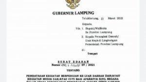 Gubernur Lampung: Mudik Kena Sanksi Disiplin, Bupati dan ...