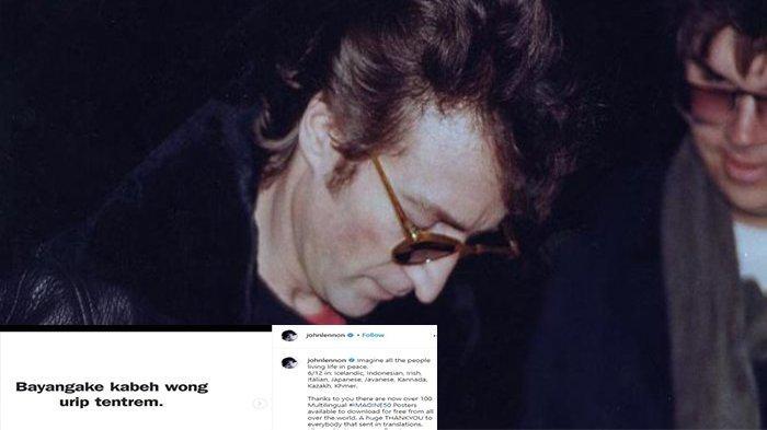 Akun John Lennon Gunakan Bahasa Jawa hingga Sunda, Postingan Diserbu Netizen Indonesia