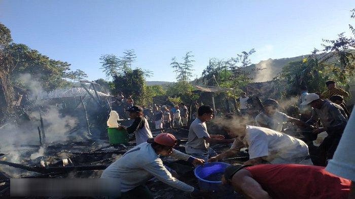Tiga Rumah Satu Kios Hangus Terbakar di Desa Tolowata dan Nipa Bima