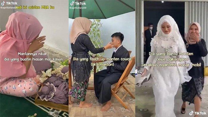 VIRAL Asisten MUA di Lombok Bantu Persiapan Pernikahan Mantan, Tegar Bantu Mempelai Pakai Gaun
