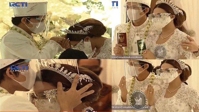 SAH! Aurel dan Atta Halilintar Resmi Jadi Suami Istri, Jokowi dan Prabowo Duduk Bersama Jadi Saksi