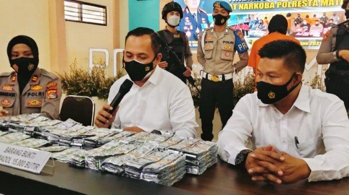 Kurir Serta 15 Ribu Butir Tramadol dari Jakarta Diamankan Polresta Mataram