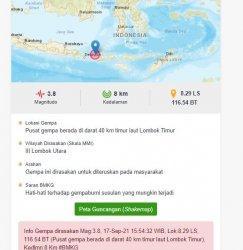 BMKG: Lombok Timur diguncang gempa, waspada gempa susulan