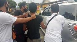 BR alias Pujet di markas Polsek Kediri Lombok Barat, saat keterangan pers, Selasa (9/3/2021).