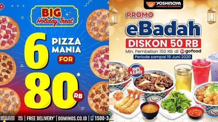 7 Promo #diRumahAja: Yoshinoya, Starbucks hingga Domino's Pizza Beli 6 Pizza Hanya Rp 80 Ribu
