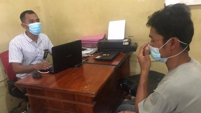 DIAMANATKAN: Polres Bima Kota mengamankan terduga pelaku pemerkosaan anak 10 tahun, Rabu (24/2/2021).