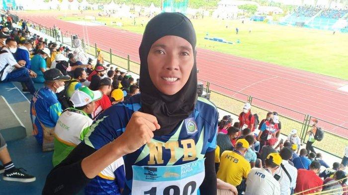 Dian Ekayanti, atlet asal NTB yang meraih perak pada nomor 1.500 meter putri di PON XX Papua 2021, Senin (11/10/2021).