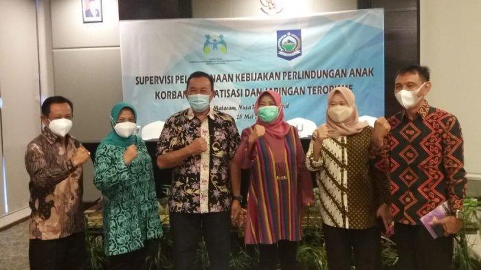 PERLINDUNGAN ANAK: Diskusi perlindungan anak dari stigmatisasi terorisme di NTB, Selasa (25/5/2021).(Dok. Diskominfotik NTB)