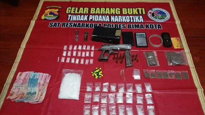 Bandar dan Pengecer Narkoba Bima Dibekuk, Sempat Melawan dan Punya Senjata Api Rakitan