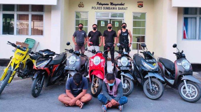 6 Pencuri dan Penadah Motor Diringkus Polres Sumbawa Barat, 1 Pelaku Berstatus Pelajar