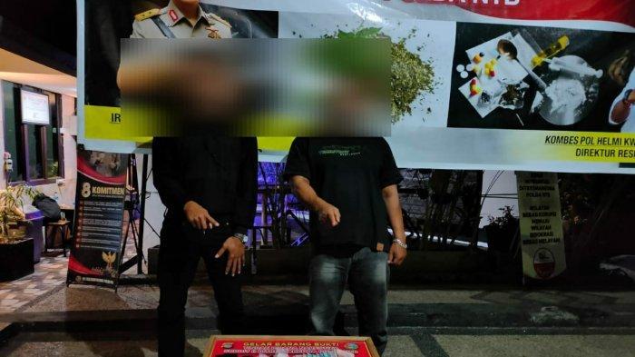 Dua Pengedar Sabu Dicokok Polda NTB saat Transaksi di Warung Karang Taliwang