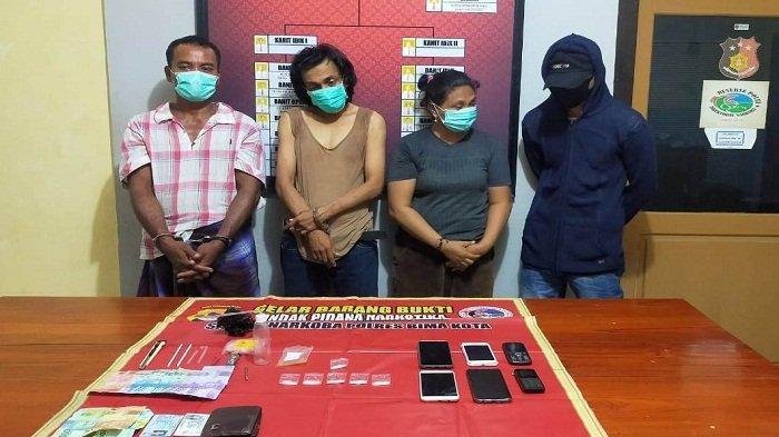 Pesta Sabu Tengah Malam, Tiga Pria dan Seorang Wanita Diciduk Polres Bima Kota
