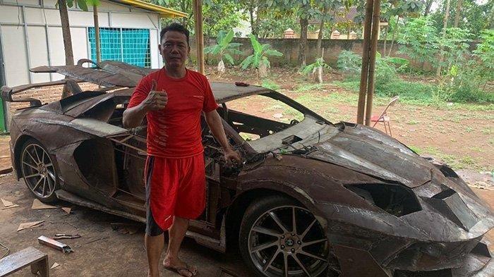 Perjuangan Montir Arjo Buat Lamborghini dari Mobil Jadul: Lulusan SMP dan Sudah Habiskan Rp 35 Juta