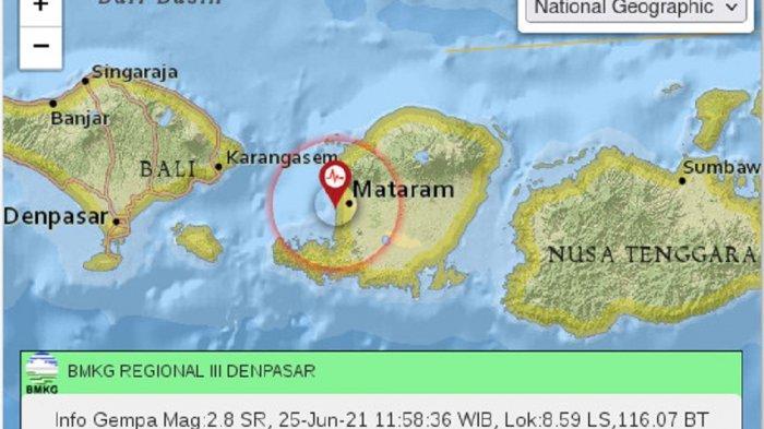 BREAKING NEWS, Gempa Bumi Magnitudo 2,8 Goyang Mataram