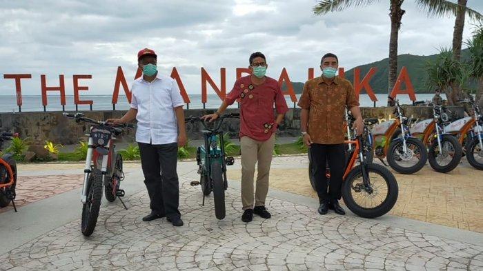 Gubernur NTB Promosikan Sepeda Listrik di Hadapan Menteri Sandiaga Uno
