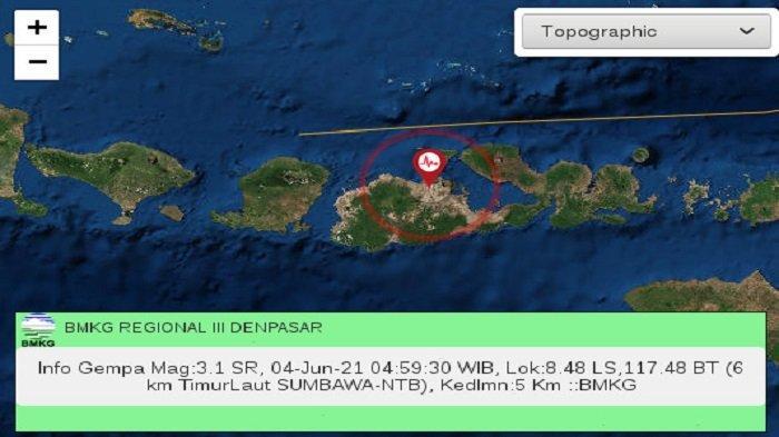 Gempa Tektonik Magnitudo 3,1 Goyang Wilayah Sumbawa