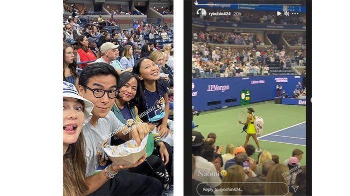 Instagram Story Ryochin dan Luna Maya bertemu di New York