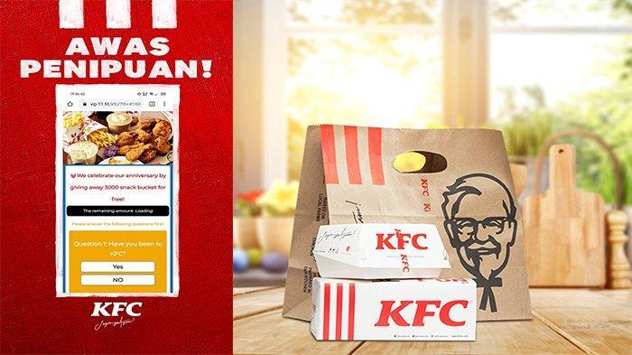 Dapat Pesan Link Survey KFC Berhadiah? Jangan Klik: Awas Penipuan, Jangan Isi Data Apapun