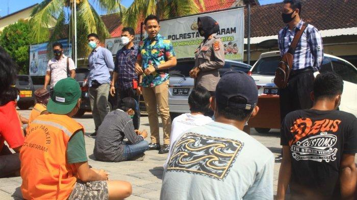 127 Juru Parkir Terjaring Razia Premanisme di Mataram, Potensi Pendapatan Daerah Bocor?