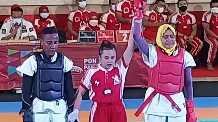 Julyana, atlet tarung drajat NTB yang sukses mendapatkan medali emas di PON XX Papua 2021.