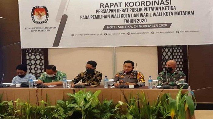 Pengamanan Debat Ketiga Calon Wali Kota Mataram Diperketat