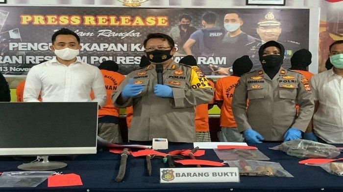 Mencuri di 67 Lokasi, Komplotan Bandit Diringkus Polresta Mataram