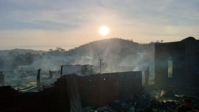 Kebakaran Hanguskan 63 Rumah di Bima, 241 Jiwa Kehilangan Tempat Tinggal