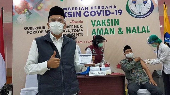 Vaksin Halal dan Aman, TGB Ajak Warga Sukseskan Vaksinasi untuk Perangi Covid-19