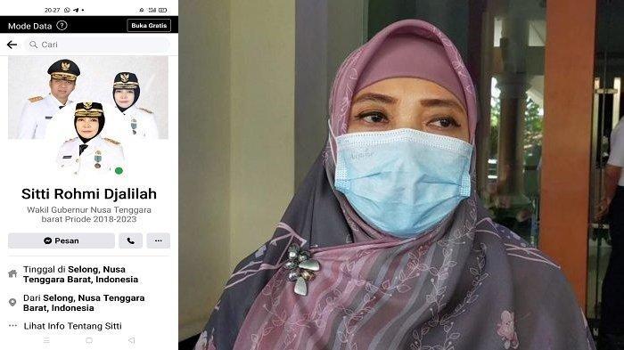 Penampakan Akun Palsu Media Sosial Catut Nama Wakil Gubernur NTB Sitti Rohmi