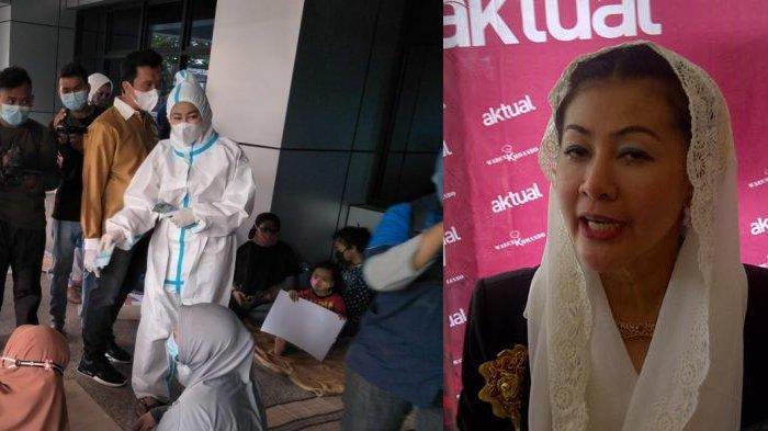 Aksi Hasnaeni Moein Wanita Emas Bagi-bagi Uang Rp 50 Ribu untuk Korban Banjir Dibubarkan