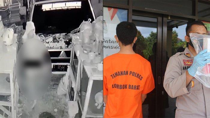Aksi Pencurian di Kediri Lombok Barat Terekam CCTV, Pelaku Nyaris Telanjang dan Bawa Sajam
