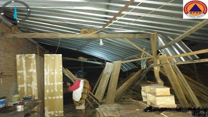 Angin Puting Beliung Rusak 17 Rumah di Lombok Tengah, Seorang Sempat Dikabarkan Meninggal