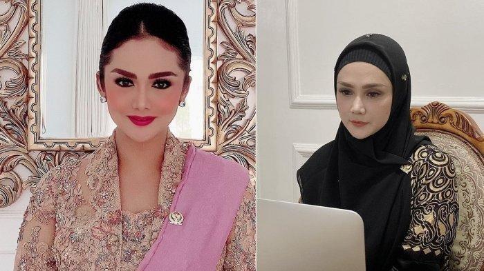 Intip Penampilan Krisdayanti dan Mulan Jameela saat Ikut Sidang Tahunan MPR secara Virtual