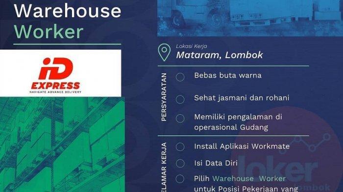 Loker gudang iD Express Mataram, Lombok