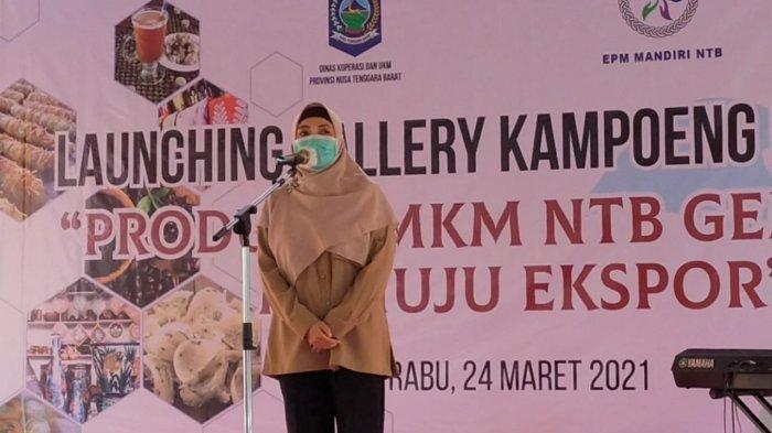 MANDIRI: Wakil Gubernur Provinsi NTB Sitti Rohmi Djalilah melaunching Gallery Kampoeng UMKM, Rabu (24/3/2021).