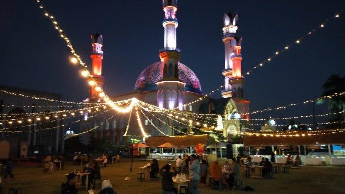ISLAMIC CENTER: Masjid Hubbul Wathan, satu di antara masjid tempat pelaksanaan salat Id berjamaah, di Kota Mataram, NTB.