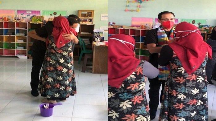 Cerita Menteri Nadiem Dipeluk Guru Honorer Bergaji Rp 100 Ribu di Lombok Tengah