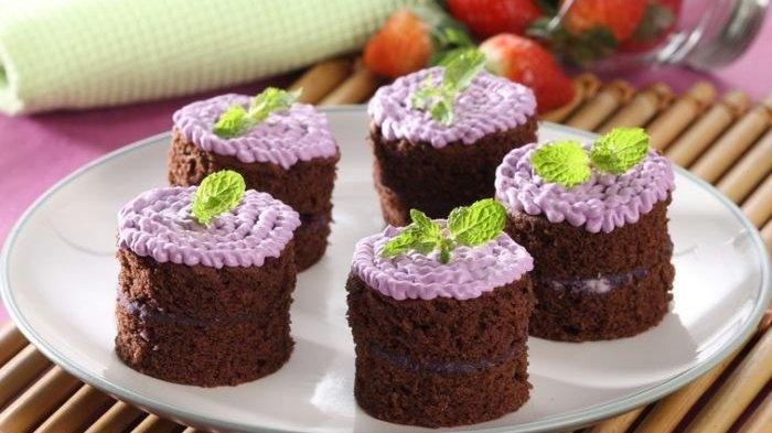 Resep Mini Cake Talas Cokelat, Camilan Cocok untuk Akhir Pekan