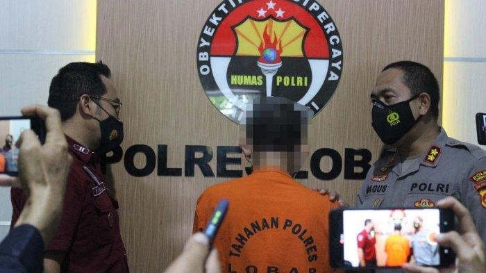 NARKOBA: Kapolres Lombok Barat AKBP Bagus S Wibowo Sopir memberkan keterangan pers terkait penangkapan sopir taksi pengedar narkoba, Jumat (18/6/2021). (Dok.Polres Lobar)