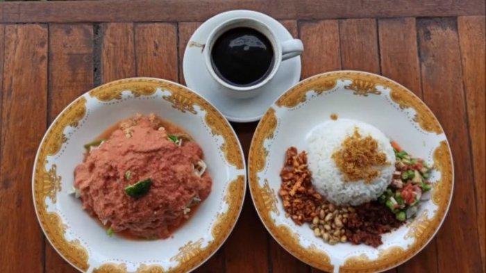 Nasi Lindung di Warung Jamaq-jamaq, Kota Mataram