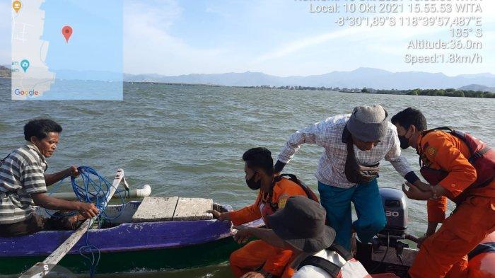 Mesin Mati saat Memancing di Teluk Bima, Dua Nelayan Dievakuasi Tim SAR