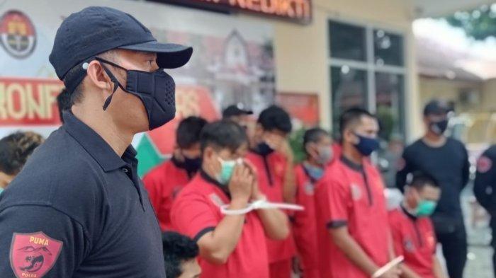 OPERASI JARAN: Para pelaku kejahatan yang diringkus polisi dalam Operasi Jaran 2021, diperlihatkan dalam keterangan pers, Senin (15/3/2021)