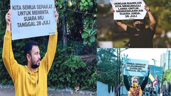 Raffi Ahmad hingga Gading Marten Turun ke Jalan Serukan Bersuara, Ternyata Ini Fakta 28 Juli 2021