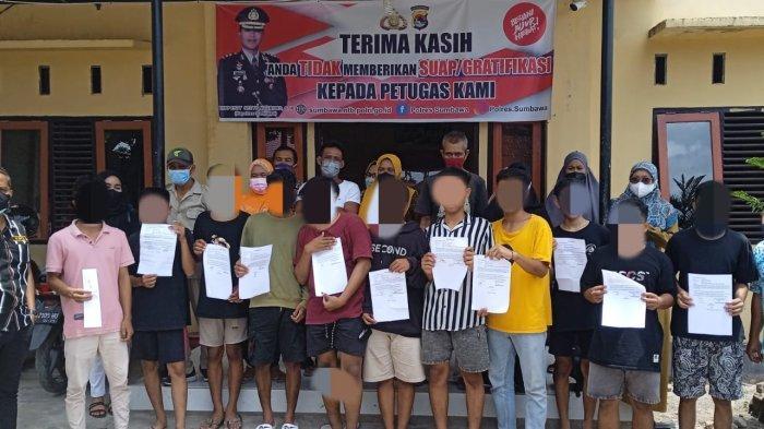Gerombolan Pelajar Mabuk Bikin Rusuh di Sumbawa, 13 Orang Ditangkap Polisi